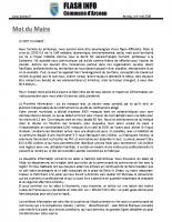 FLASH 71 – Mai 2020