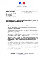 Arrêté préfectoral du 22 mars 2019