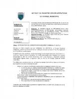 Délibérations du conseil municipal du 26 mars 2019