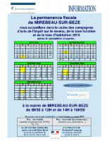 Permanence fiscale MIREBEAU – campagne avis 2019