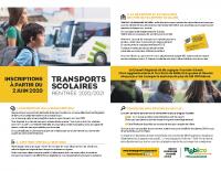 Inscription transport scolaire 2020-2021
