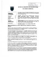 Extrait du registre des délibérations du conseil municipal