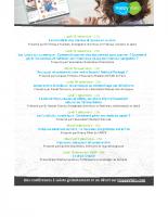 Programme des conférences – Fin 2020